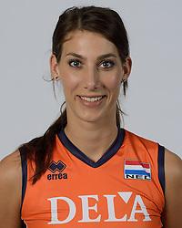21-05-2014 NED: Selectie Nederlands volleybal team vrouwen, Arnhem<br /> Op Papendal werd het Nederlands team volleybal seizoen 2014-2015 gepresenteerd / Robin de Kruijf