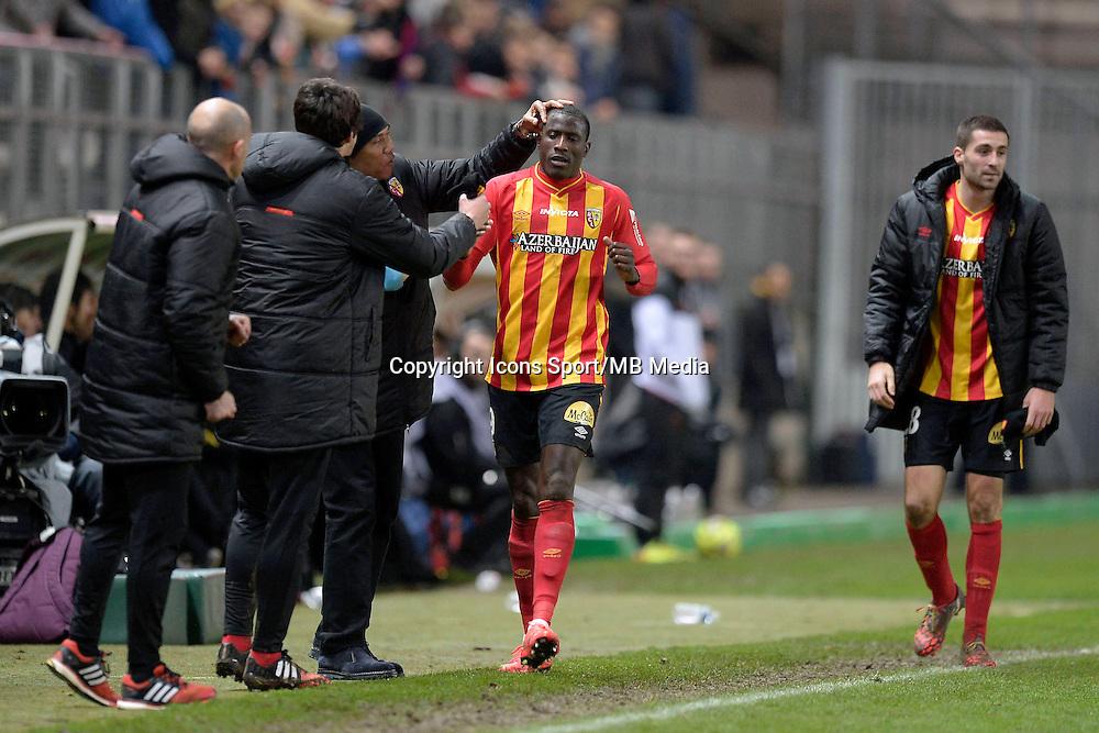 Joie Lens -  Adamo COULIBALY / Antoine KOMBOUARE  - 19.12.2014 - Lens / Nice - 19e journee Ligue 1<br /> Photo : Aurelien Meunier / Icon Sport