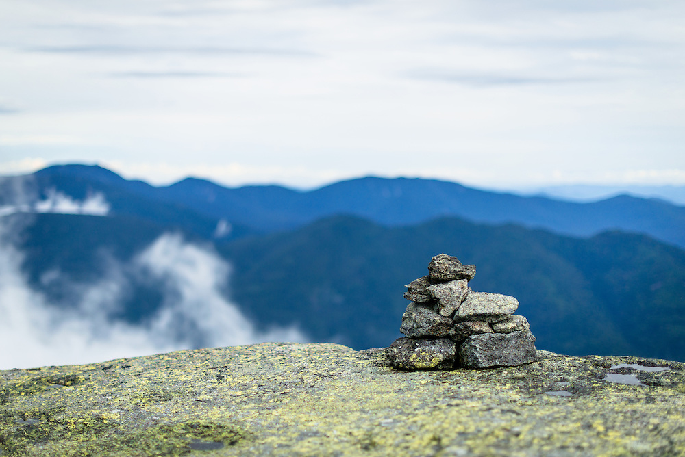 Trail Cairns on Little Haystack in the Adirondacks