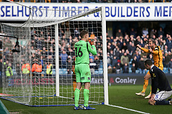 David Martin of Millwall in despair after conceding a late goal - Mandatory by-line: Arron Gent/JMP - 17/03/2019 - FOOTBALL - The Den - London, England - Millwall v Brighton and Hove Albion - Emirates FA Cup Quarter Final
