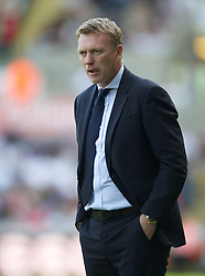 SWANSEA, WALES - Saturday, September 22, 2012: Everton's manager David Moyes during his side's 3-0 Premiership victory over Swansea City at the Liberty Stadium. (Pic by David Rawcliffe/Propaganda)