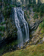 Narada Falls is a beautiful waterfall in Mount Rainier National Park, in Washington state. It is said to be the most popular because the falls is located along the Longmire to Paradise park road on the way to Paradise Valley.