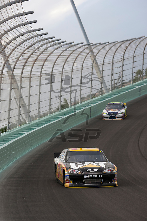 Homestead, FL - NOV 20, 2011:  Jeff Burton (31) races for the Ford 400 race at the Homestead-Miami Speedway in Homestead, FL.