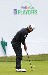 September 10, 2018 - Newtown Square, Pennsylvania, United States - Xander Schauffele putts the 9th green during the final round of the 2018 BMW Championship. (Credit Image: © Debby Wong/ZUMA Wire)