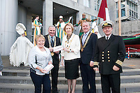 Galway launches 200 Gatherings ! Come home to Irelands Cultural Heart  with help of  Galway Sea Festival Carmel Brennan Galway County Mayor Cllr Tom Welby  Galway City Mayor Cllr Terry O Flaherty President Galway Chamber of Commerce Declan Dooley Galway Harbour Master Captain Brian Sheridan  at Aras An Contae. Picture Andrew Downes.