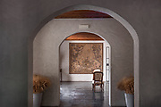 A beautiful example of how chasing light can make or break a mood of a space. An interior space at Mandranova Estate in Sicily