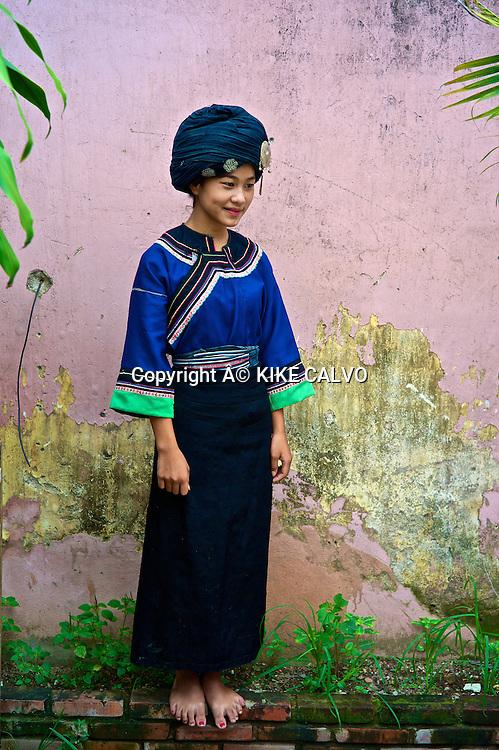 Teen wearing a Ho traditional dress.