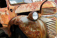 Telegraph Cove - Rusting Dodge Truck   Photo: Peter Llewellyn