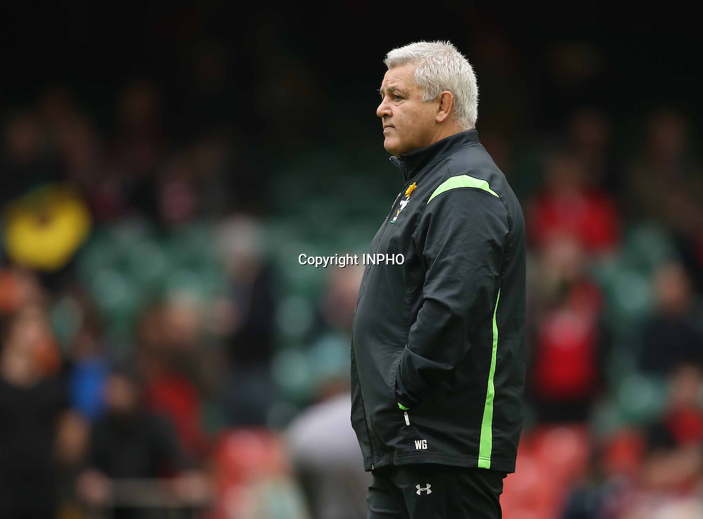 RBS 6 Nations Championship, Millennium Stadium, Cardiff, Wales 14/3/2015<br /> Wales vs Ireland <br /> Wales head coach Warren Gatland<br /> Mandatory Credit &copy;INPHO/Billy Stickland