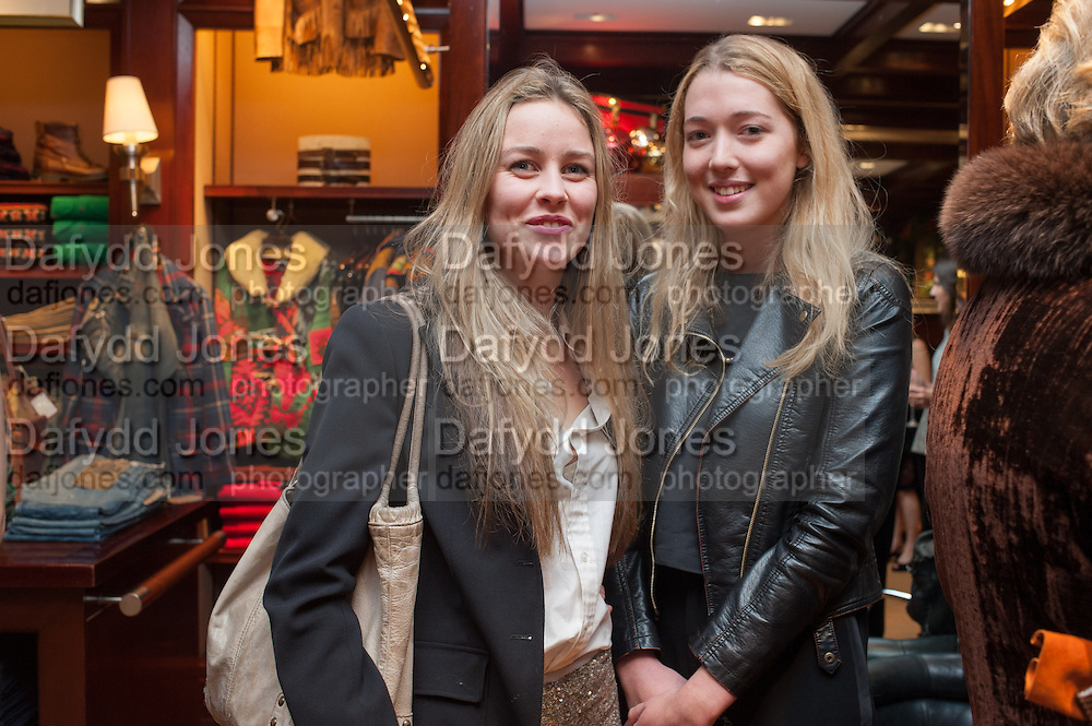 MADDISON MAY BRUDENELL; ANGELICA HICKS, Book launch for ' Daughter of Empire - Life as a Mountbatten' by Lady Pamela Hicks. Ralph Lauren, 1 New Bond St. London. 12 November 2012.