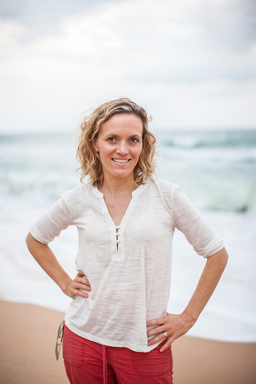 Stephanie Wear on the beach in St. Augustine, FL. November 2012.  Stephanie is the Director of Coral Reef Conservation for the Global Marine Initiative for The Nature Conservancy