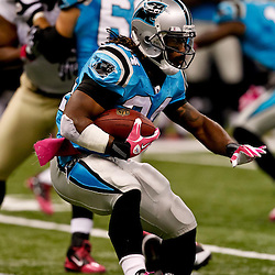 October 3, 2010; New Orleans, LA, USA; Carolina Panthers running back DeAngelo Williams (34) runs against the New Orleans Saints during the second quarter at the Louisiana Superdome. Mandatory Credit: Derick E. Hingle
