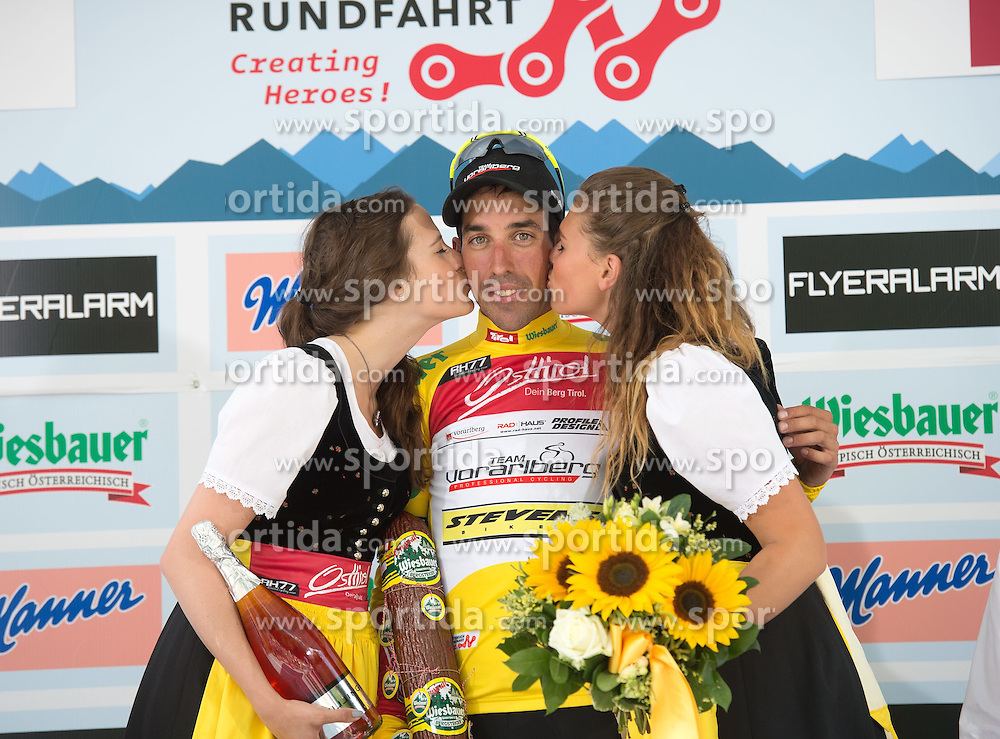 11.07.2015, Innsbruck, AUT, Österreich Radrundfahrt, 7. Etappe, von Kitzbühel nach Innsbruck, im Bild Victor Gonzalez de la Parte (ESP, 1. Platz Gesamtwertung) // Overall leader Victor Gonzalez de la Parte of Spain during the Tour of Austria, 7th Stage, from Kitzbühl to Innsbruck, Innsbruck, Austria on 2015/07/11. EXPA Pictures © 2015, PhotoCredit: EXPA/ Reinhard Eisenbauer