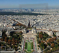 Paris, city panorama, Trocadero, La Defense, France, Ile-de-France