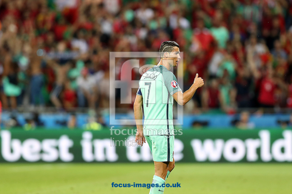Cristiano Ronaldo of Portugal during the UEFA Euro 2016 semi-final match at Stade de Lyons, Lyons<br /> Picture by Paul Chesterton/Focus Images Ltd +44 7904 640267<br /> 06/07/2016