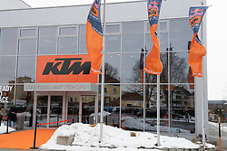 12.02.2019, Munderfing, AUT, MotoGP, Teampräsentation KTM Factory Racing, im Bild KTM Präsentation Stadthalle Mattighofen // during the presentation of KTM factory racing for the upcoming Season in Munderfing, Austria on 2019/02/12. EXPA Pictures © 2019, PhotoCredit: EXPA/ Reinhard Eisenbauer