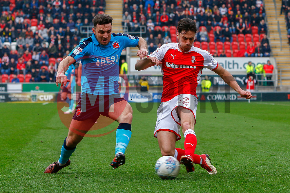 Joe Newell of Rotherham United crosses the ball - Mandatory by-line: Ryan Crockett/JMP - 07/04/2018 - FOOTBALL - Aesseal New York Stadium - Rotherham, England - Rotherham United v Fleetwood Town - Sky Bet League One
