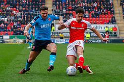 Joe Newell of Rotherham United crosses the ball - Mandatory by-line: Ryan Crockett/JMP - 07/04/2018 - FOOTBALL - Aesseal New York Stadium - Rotherham, England - Rotherham United v Fleetwood Town - Sky Bet League One