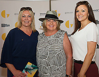 Charlotte Quinn, Michelle Quinn and Gillian Quinn, all from Galway at  the opening night of Galway international Arts Festival 2015 at the Radisson Blu Hotel Galway. Photo:andrew Downes xposure