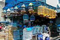 Indonesia, Java, Bogor. Birds for sale on a market in the city center.