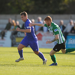 TELFORD COPYRIGHT MIKE SHERIDAN Lewis Reilly of Telford (on loan from Crewe Alexandra) during the National League North fixture between Blyth Spartans and AFC Telford United at Croft Park on Saturday, September 28, 2019<br /> <br /> Picture credit: Mike Sheridan<br /> <br /> MS201920-023