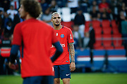 Layvin Kurzawa (psg), Adrien Rabiot (psg) at warm up during the French championship L1 football match between Paris Saint-Germain (PSG) and Toulouse Football Club, on August 20, 2017, at Parc des Princes, in Paris, France - Photo Stephane Allaman / ProSportsImages / DPPI
