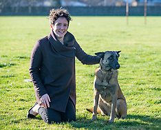 Police dog meets Government Minister, Edinburgh, 30 January 2019