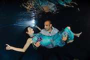 Romantic couple underwater