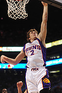 Mar. 19 2010; Phoenix, AZ, USA; Phoenix Suns guard Goran Dragic (2) lays up the ball during the first half at the US Airways Center.  The Suns defeated the Jazz 110-100. Mandatory Credit: Jennifer Stewart-US PRESSWIRE.