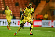 Burnley defender Tendayi Darikwa  during the Sky Bet Championship match between Middlesbrough and Burnley at the Riverside Stadium, Middlesbrough, England on 15 December 2015. Photo by Simon Davies.