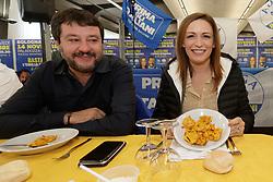 MATTEO SALVINI E LUCIA BORGONZONI <br /> MATTEO SALVINI IN VISITA IN FIERA A FERRARA