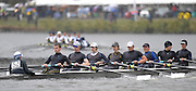 Cambridge, USA, Youth men' eights,    Eton Collage [A] passing under the John Weeks footbridge during the  2009 Head of the Charles  Sunday  18/10/2009  [Mandatory Credit Peter Spurrier Intersport Images],.
