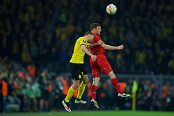 DORTMUND, GERMANY - Thursday, April 7, 2016: Liverpool's James Milner in action against Borussia Dortmund during the UEFA Europa League Quarter-Final 1st Leg match at Westfalenstadion. (Pic by David Rawcliffe/Propaganda)