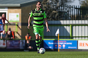 Forest Green Rovers Farrend Rawson(20) during the EFL Sky Bet League 2 match between Forest Green Rovers and Chesterfield at the New Lawn, Forest Green, United Kingdom on 21 April 2018. Picture by Shane Healey.