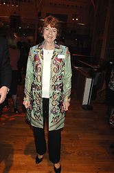 PAM AYRES at the Orion Authors Party held at the Royal Opera House, Covent Garden, London on 11th February 2008.<br />