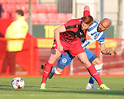 Matt Harrold and Bruno during the Pre-Season Friendly match between Crawley Town and Brighton and Hove Albion at the Checkatrade.com Stadium, Crawley, England on 22 July 2015.