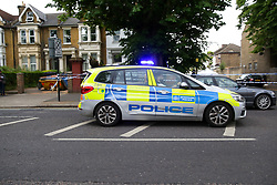 © Licensed to London News Pictures. 28/05/2019. London, UK.London, UK. A crime scene on Warwick Road, Forest Gate, East London where a man in his 30s died in the early hours of this morning.<br />