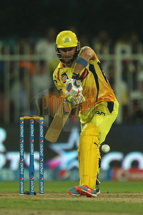 Brendon McCullum of The Chennai Superkings during match 17 of the Pepsi Indian Premier League 2014 between the Sunrisers Hyderabad and the Chennai Superkings held at the Sharjah Cricket Stadium, Sharjah, United Arab Emirates on the 27th April 2014<br /> <br /> Photo by Ron Gaunt / IPL / SPORTZPICS