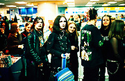 """Cradle Of Filth"" fans queing for autographs, UK 2000's"