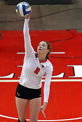18 November 2016:  Ella Francis during an NCAA women's volleyball match between the Northern Iowa Panthers and the Illinois State Redbirds at Redbird Arena in Normal IL (Photo by Alan Look)
