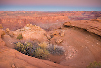 Burr Point Overlook of the Canyons of the Dirty Devil River Utah USA