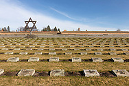 Star of David at the memorial cemetary, at Terezin Concentration camp, The Czech Republic Europe