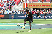 Manchester United Forward Romelu Lukaku in warm up during the AON Tour 2017 match between Real Madrid and Manchester United at the Levi's Stadium, Santa Clara, USA on 23 July 2017.