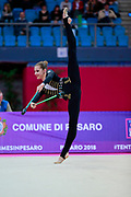 Hudis Veronika during the qualification of the clubs at the Pesaro World Cup 2018.<br />
