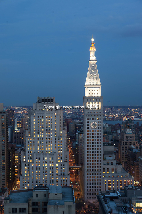 New York elevated view, cityscape of Manhattan madison square district ,
