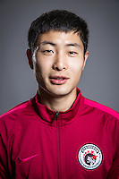 Portrait of Chinese soccer player Wang Fa of Liaoning Whowin F.C. for the 2017 Chinese Football Association Super League, in Foshan city, south China's Guangdong province, 24 January 2017.