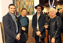 Willie Walsh Westival Chairman, Fiona Neary, Michael Wann and Breda Burns pictured at the opening of the two group shows Identity and Ipseity at the Westival Gallery. <br /> Pic Conor McKeown