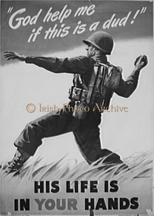 War production drive poster. Poster distributed by the Ordnance Department, U.S. Army, to labour management committees. The original, size 28 1/2 inches by 40 inches, may be obtained from war production drive headquarters, War Production Board (WPB), Washington, D.C.1942