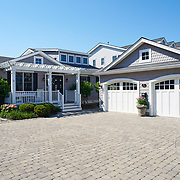 AVALON, NJ - JUNE 10, 2017: The view of the front of the house with two-car garage at right. 4738 Ocean Dr, Avalon, NJ. Credit: Albert Yee for the New York Times