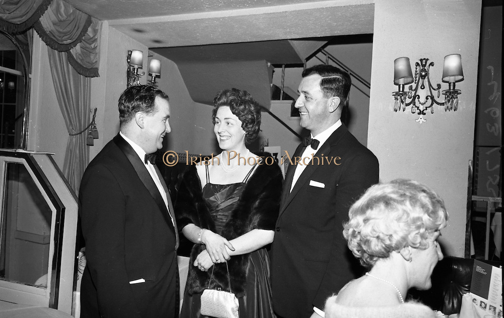 The Caltex Sports Star of the Year Awards were presented at the Gresham Hotel, Dublin, by An Taoiseach Seán Lemass..08.02.1965